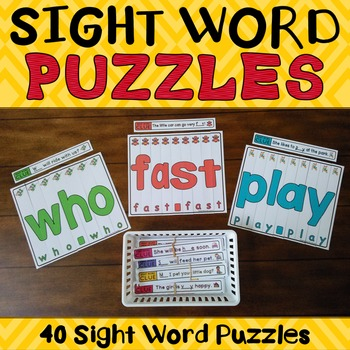 Sight Word Puzzles