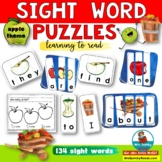 Sight Word Puzzles | Apple Theme | Learning to Read
