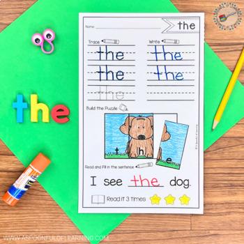 Sight Word Puzzles BUNDLE Sets 1-3