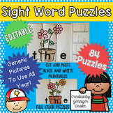 Sight Word Puzzles EDITABLE