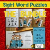 Sight Word Puzzles *EDITABLE*  THE BUNDLE