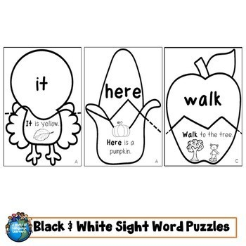Sight Word Puzzles: Fall