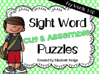 Sight Word Puzzles- Fry Words 1-50
