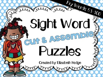 Sight Word Puzzles- Fry Words 51-100