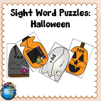 Sight Word Puzzles: Halloween