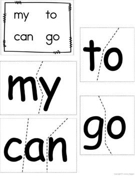 Sight Word Puzzles - Literacy Center / Word Work