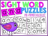 Sight Word Puzzles *Pre-Primer List*