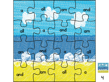 Sight Word Puzzles: Summer Edition