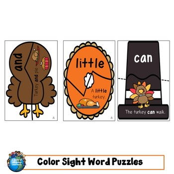 Sight Word Puzzles: Thanksgiving