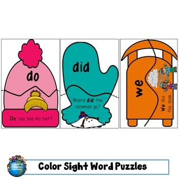 Sight Word Puzzles: Winter