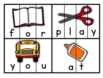 Sight Word Puzzles for Yvonnee