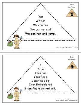 Fluency / Sight Word Pyramids!  Dolch Pre-Primer