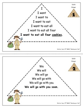 Fluency / Sight Word Pyramids!  Dolch Primer
