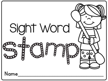 Sight Word Q-tip Stamp