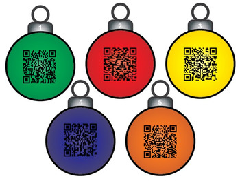 Sight Word QR Code Christmas Ornament