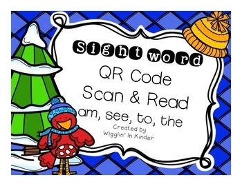 Sight Word QR Code Scan & Read