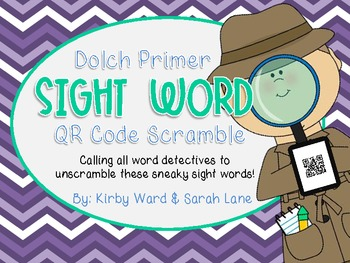 Sight Word QR Code Scramble! Primer Word List