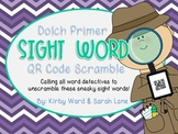 Sight Word QR Code Scramble! Primer Word List