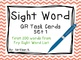 Sight Word QR Code Task Card Bundle