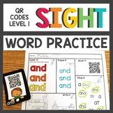 Sight Word QR Codes