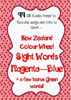 Sight Word QR Codes (NZ)