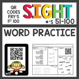Sight Word QR Codes First 51-100