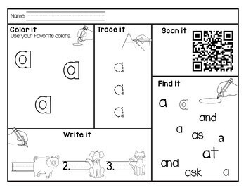 Sight Word QR Codes Fry's first 50