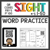 Sight Word QR Codes First 50