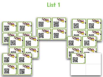 Sight Word QR Codes!