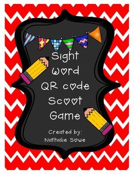 Sight Word QR Scoot Game (Set 1)