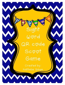 Sight Word QR Scoot Game (Set 2)