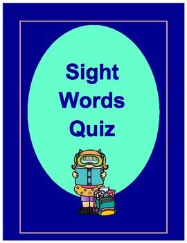 Sight Word Quiz