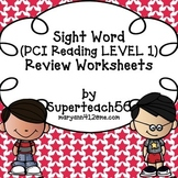 SPECIAL EDUCATION Sight Word REVIEW Worksheets