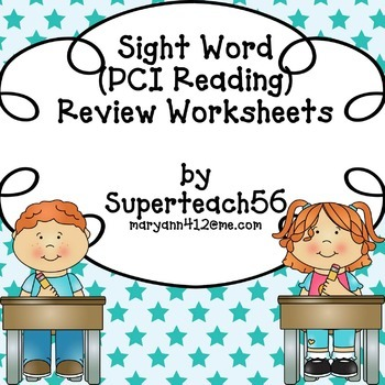 SPECIAL EDUCATION*Sight Word REVIEW Part 2