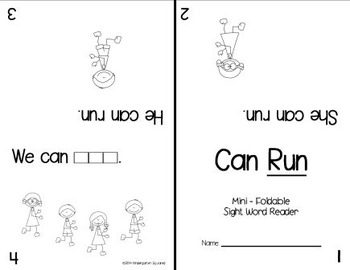 Sight Word: RUN - Interactive Flap Book, Reader, and More! 1/2 price today!