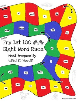 Let's Go! Sight Word Race - 1st 100 Fry Sight Words