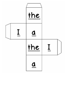 Sight Word Race Game {Set 1}
