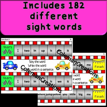 Sight Word Race Interactive Game