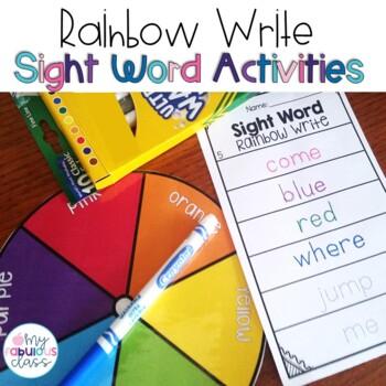 Sight Word Rainbow Write