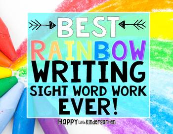 Sight Word Rainbow Writing