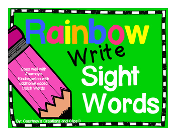 Sight Word Rainbow Writing- Goes well with Journeys