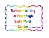 Sight Word Rainbow Writing or Play-dough Mats