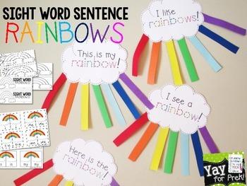 FREE!! Sight Word Rainbows for PreK and Kindergarten