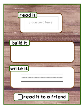 Sight Word Read, Build, Write- Nature Theme