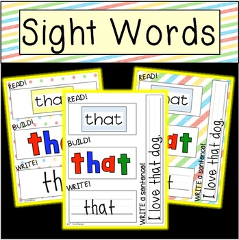 Sight Word Read, Build, and Write