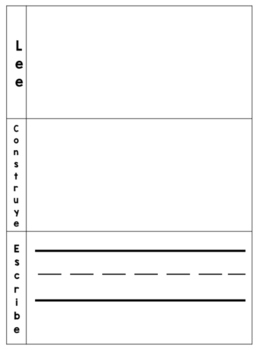 Sight Word Read Build and Write Mat Spanish