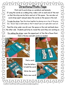 Sight Word Read It, Build It, Write It Mats & Word Strips
