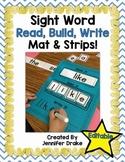 Sight Word Read It, Build It, Write It Mats & Word Strips