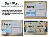 Sight Word Read It Trace It Build it Write It High Frequen