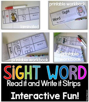 Sight Word Read It and Write It Strips FIRST GRADE